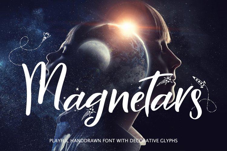 Magnetars - space font