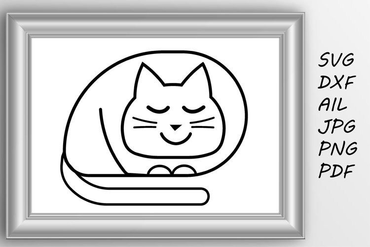 Cat svg Cute cat svg example image 1