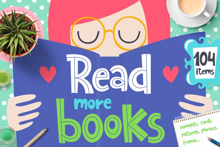 Read More Books - Clipart Collection example image 1