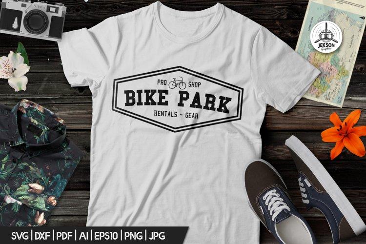 Vintage Outdoor Bike Tours Logo / Badge Templates SVG File example image 1
