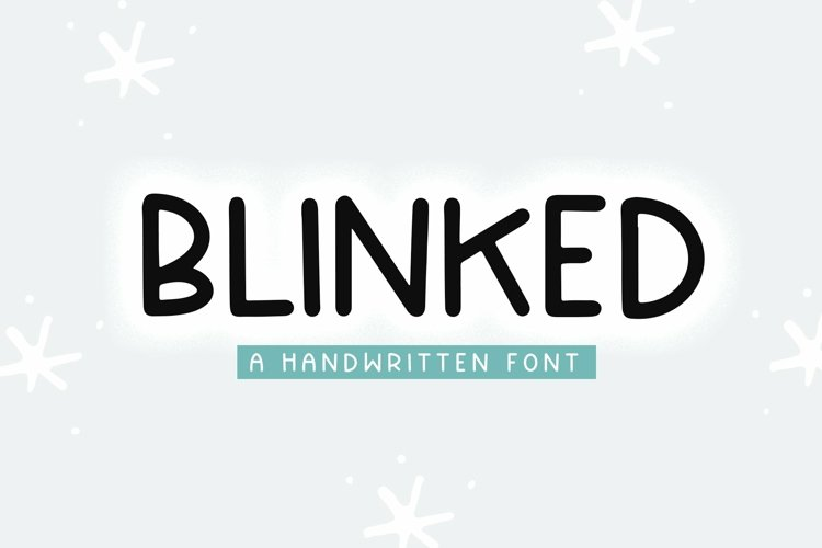 Web Font Blinked - A Handwritten Font example image 1