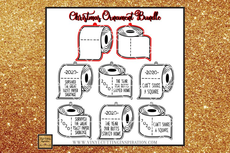 Covid Christmas 2020 Ornaments Toilet Paper Roll Bundle svg
