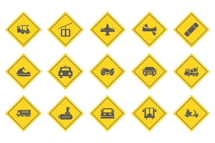 Set Of Transport Icons example image 1