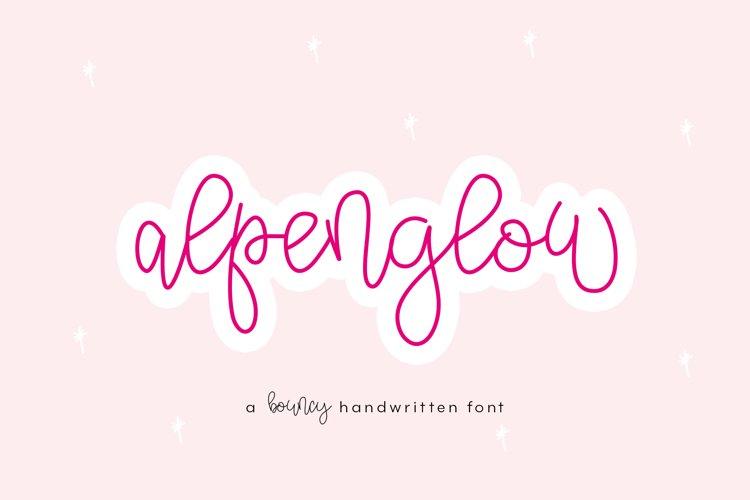 Alpenglow - Bouncy Script Font example image 1