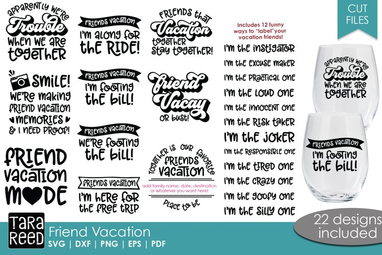 Friend Vacation - Vacation SVG and Cut Files for Crafters