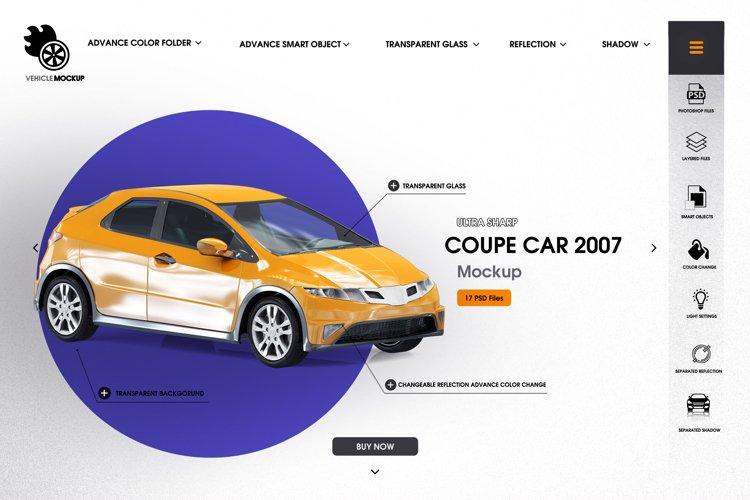 Coupe car 2007 mockup