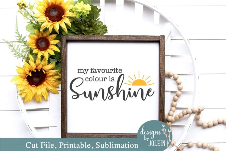 My favourite colour is Sunshine SVG, Sublimation, Print example image 1
