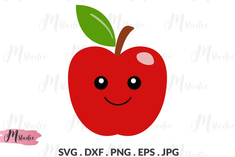 Apple Character svg. example image 1