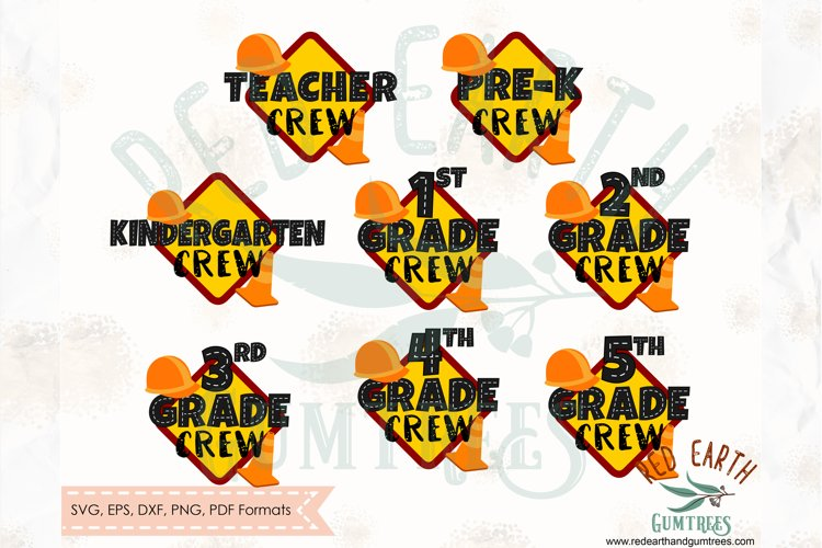 Construction theme school crew shirt decal SVG,DXF,PNG,EPS