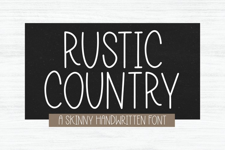 Rustic Country - A Handwritten Font