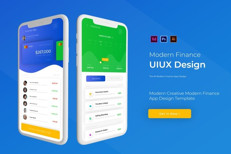 Modern Finance | App Template example image 1