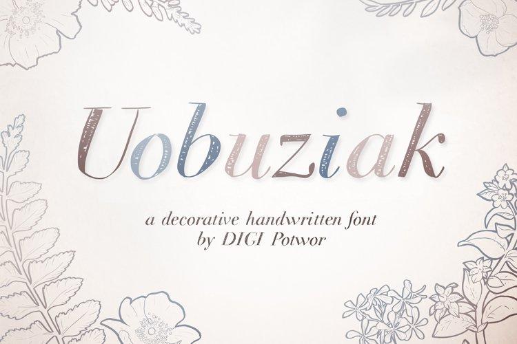 Uobuziak font example image 1