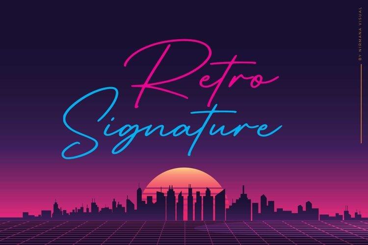 Retro Signature example image 1