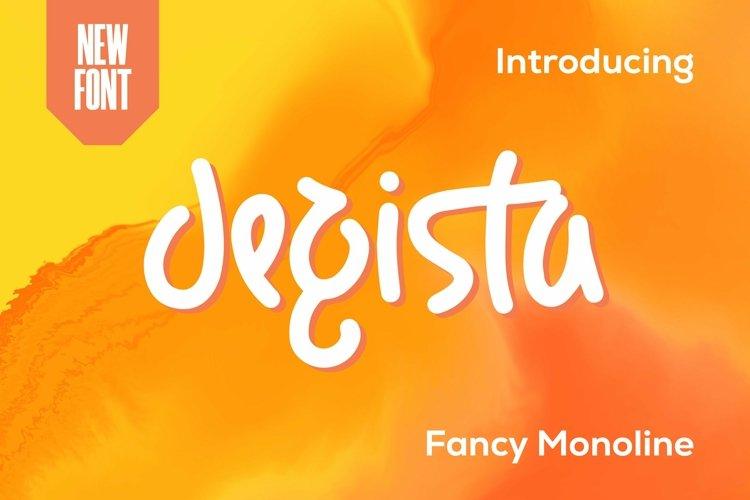 Web Font Degista - Fancy Monoline Font example image 1