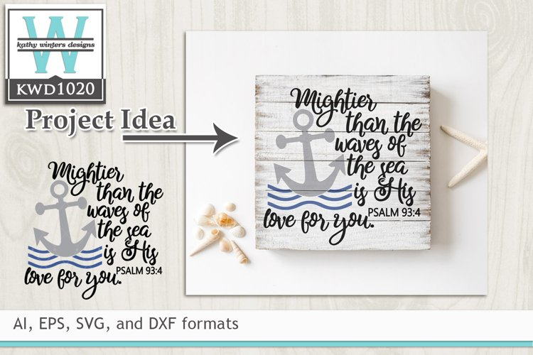 Faith/Scripture SVG - Mightier Than The Waves