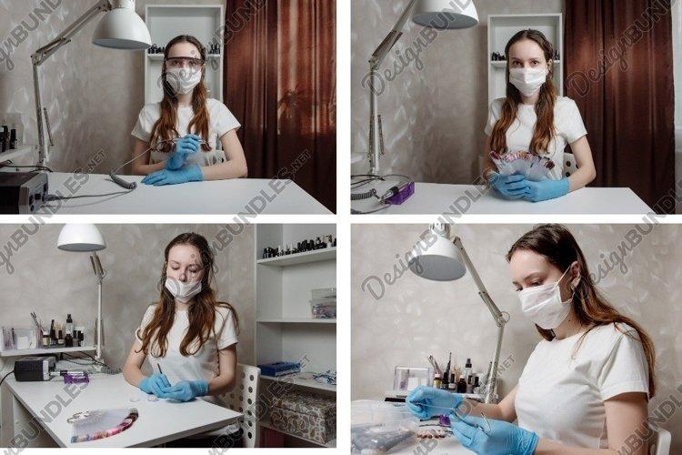 Beautiful girl manicurist in beauty salon example image 1