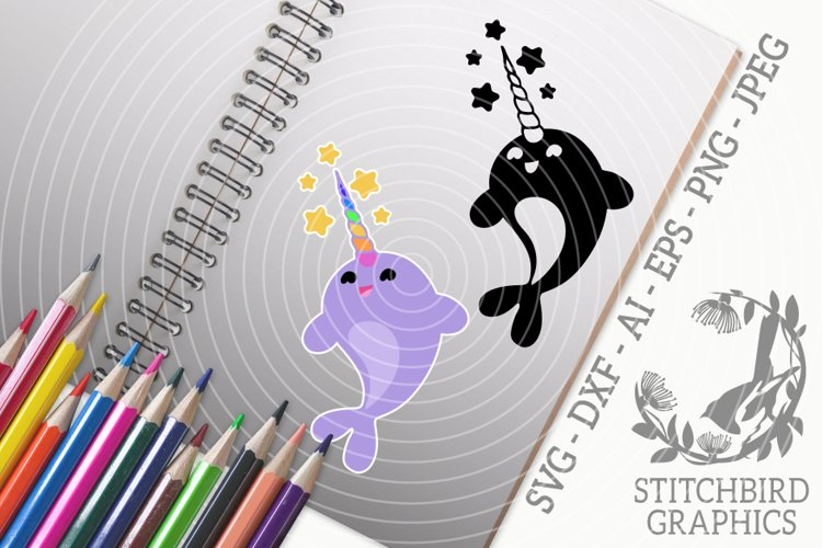 Narwhal Stars Bundle SVG, Silhouette Studio, Cricut, Eps