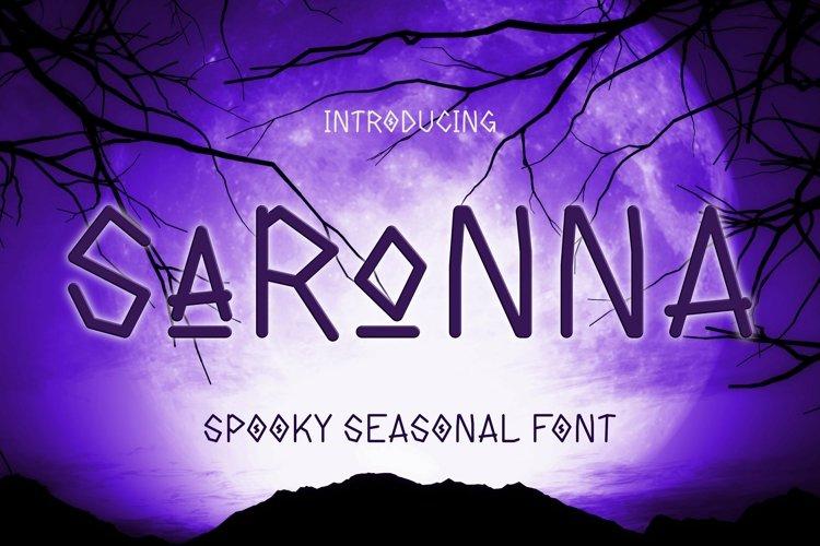 Web Font Saronna Font example image 1