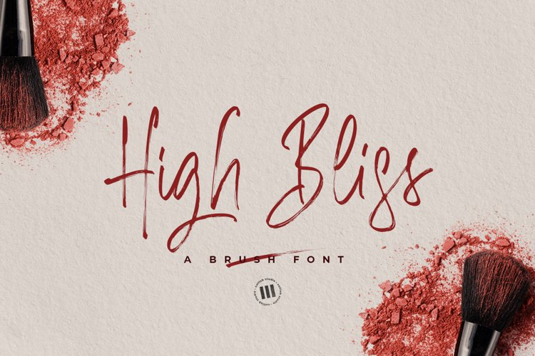 High Bliss - A Brush Font