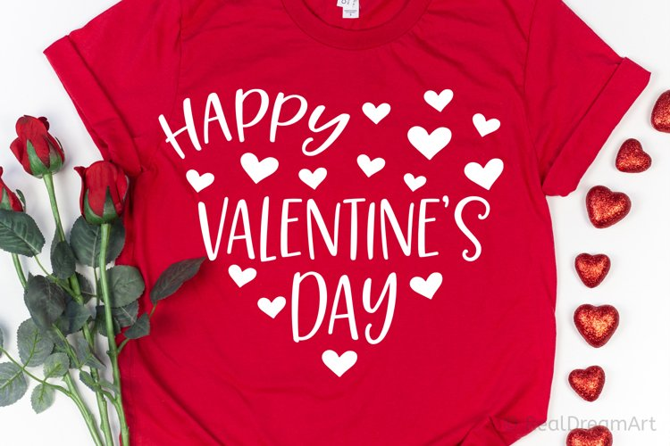 Happy Valentines Day Heart SVG, DXF, PNG, EPS