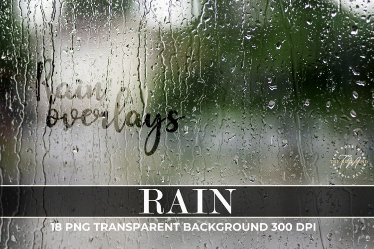 Rain Overlays, Photo Effect Rain, Rain Photo Overlays example image 1