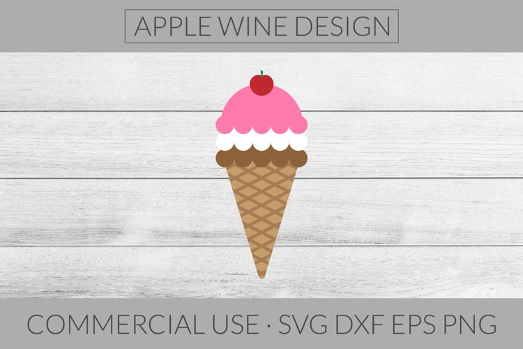 Ice Cream Cone SVG DXF PNG EPS Cutting File example image 1