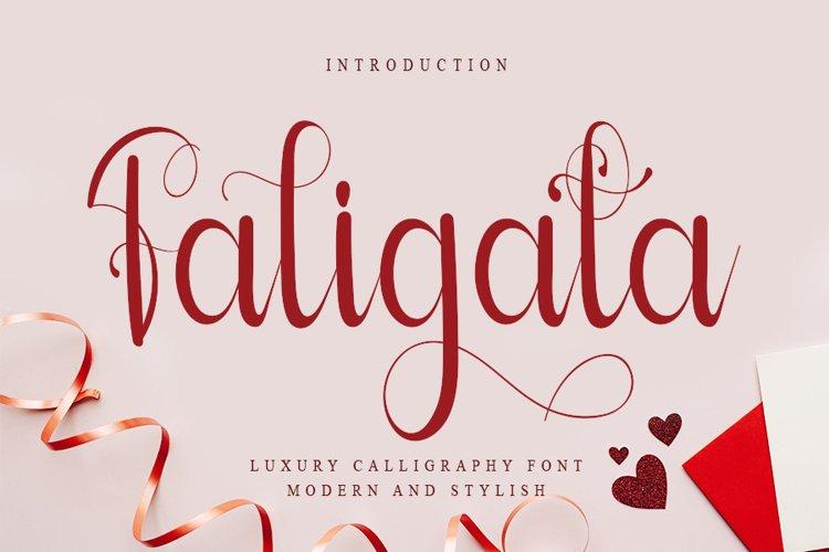 Faligata - Lovely Calligraphy Font example image 1