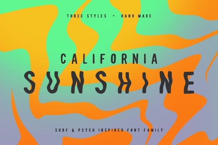 California Sunshine Typeface example image 1