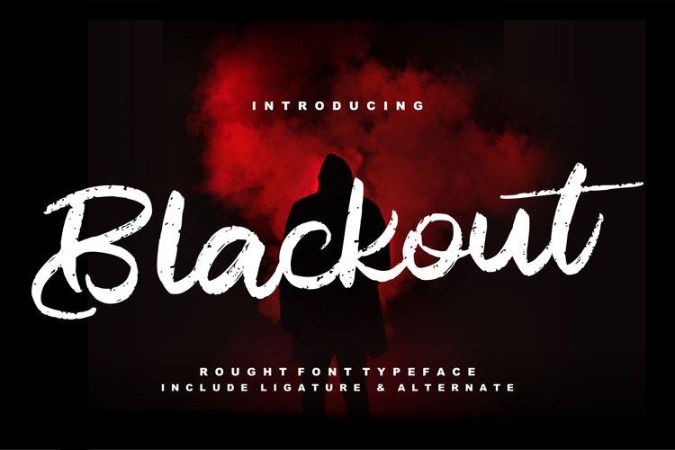 Blackout   Rough Script Font example image 1