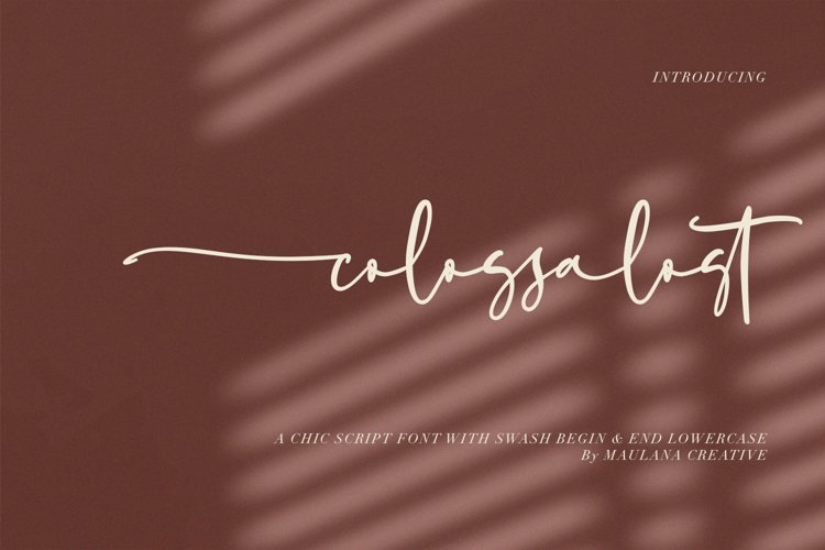 Colossalost Script Font With Swash example image 1