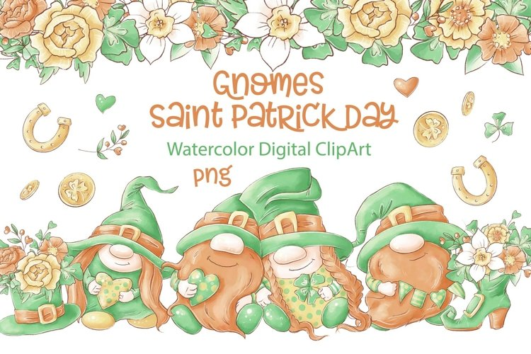 Cute Gnomes for Saint Patrick's Day example image 1