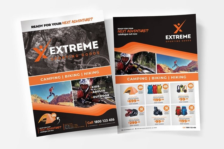 A4 Sports Outlet Poster Templates example image 1