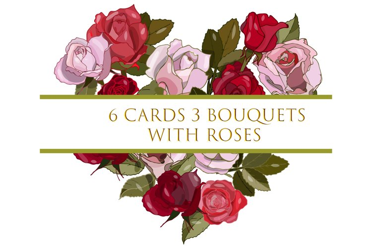 Cards and wreaths with roses. example image 1