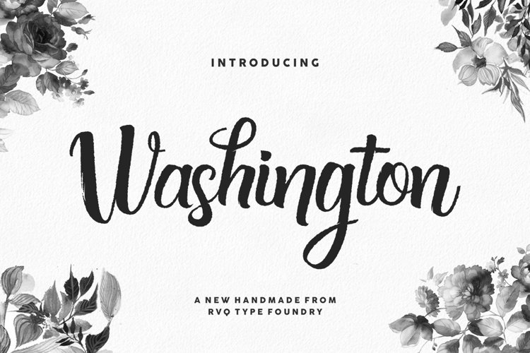 Washington script example image 1