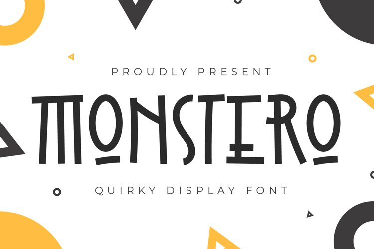 Monstero - Quirky Display Font example image 1