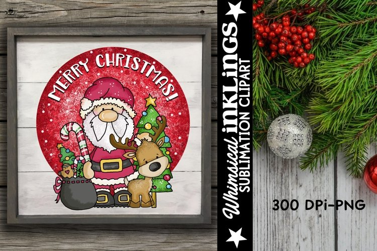 Merry Christmas Santa Sublimation Clipart example image 1