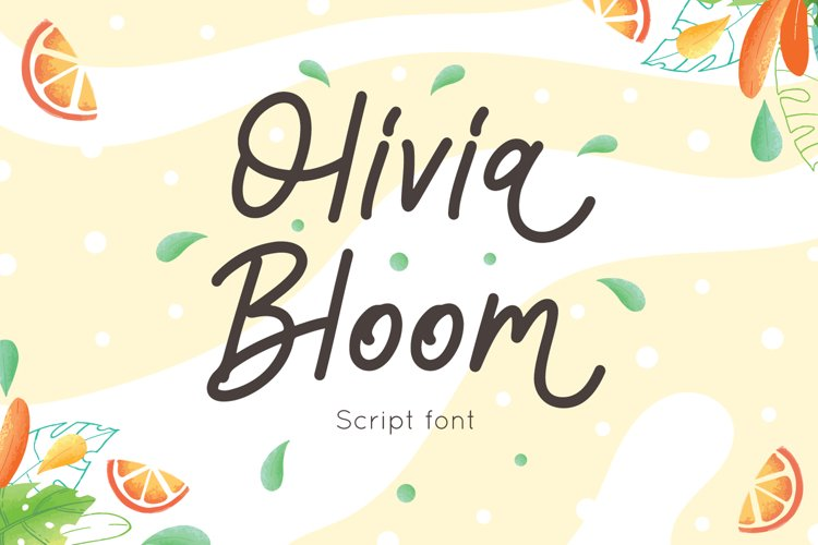 Olivia Bloom - Summer Font