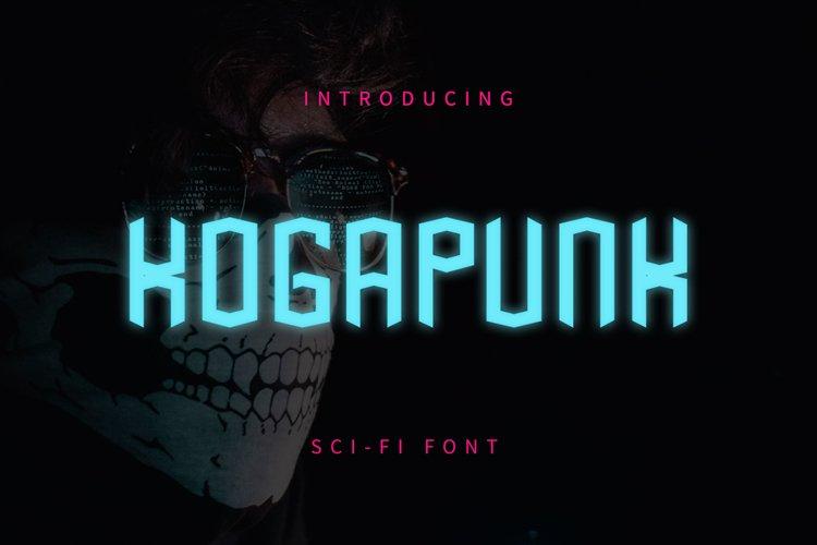 Kogapunk - Scifi Font example image 1