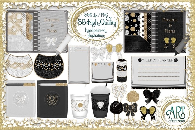 Lady Boss clipart,Planner Set, digital planner PNG
