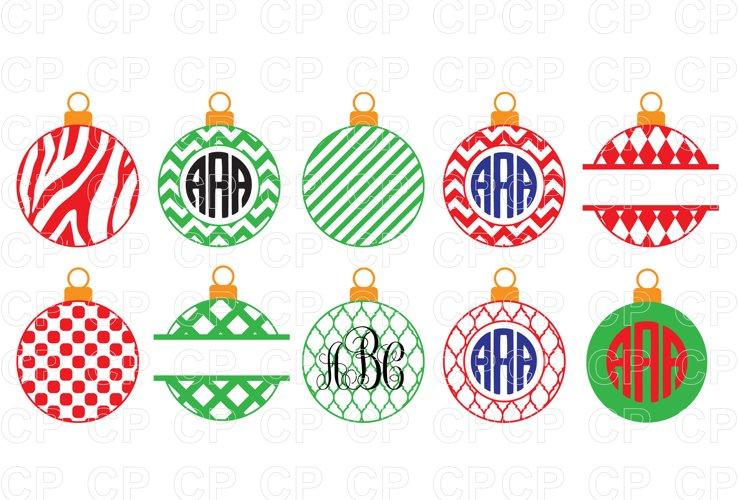 Christmas Ornament Bundle SVG, Christmas Ornament Clipart