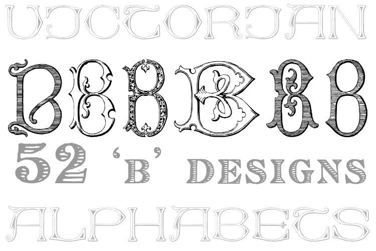 Victorian Alphabets B example image 1
