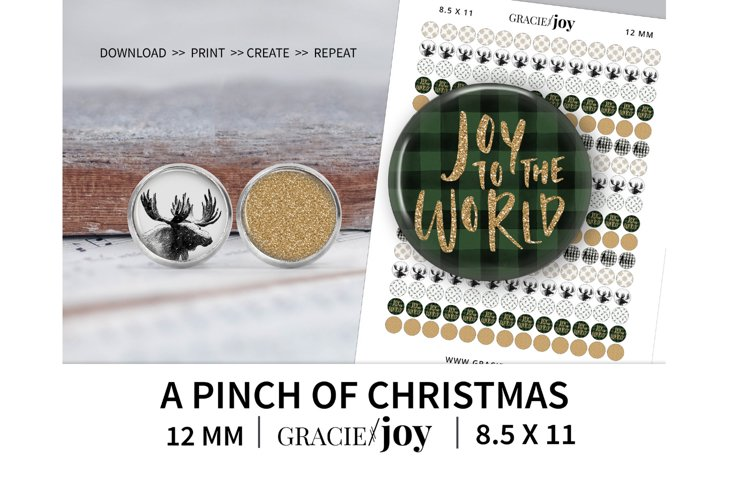 A pinch of Christmas 12 MM digital collage sheet example image 1