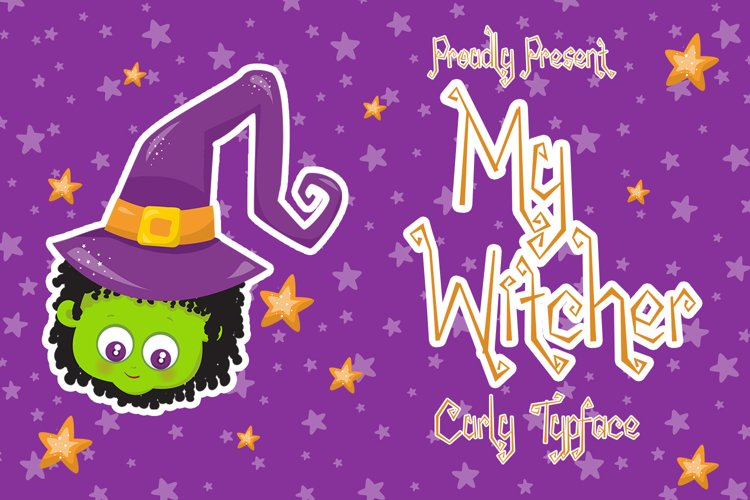 My Wicther - Spooky Curly Font example image 1