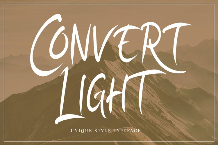Convert Light | Unique Typeface example image 1