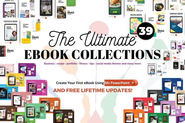 UPDATES! 39 eBooks Bundle Template PowerPoint Presentation