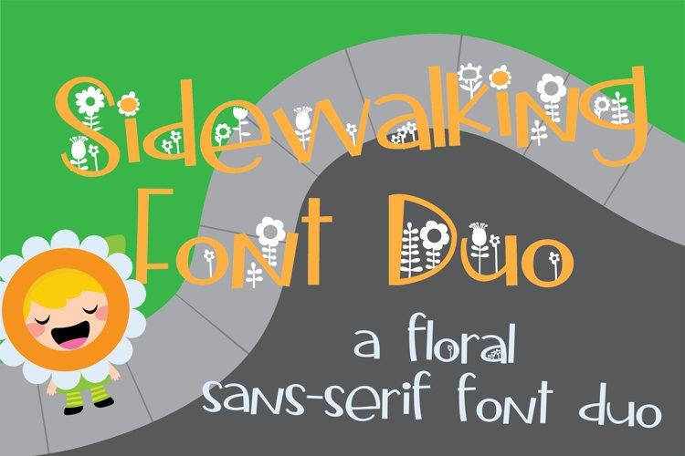 Sidewalking Font Duo example image 1