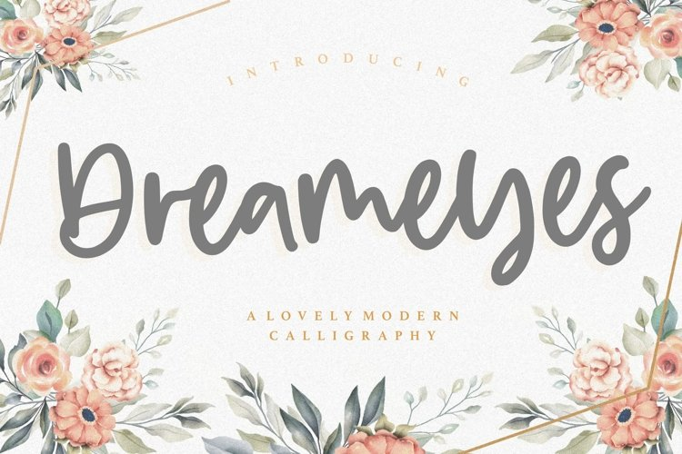 Dreameyes Lovely Modern Calligraphy Font example image 1