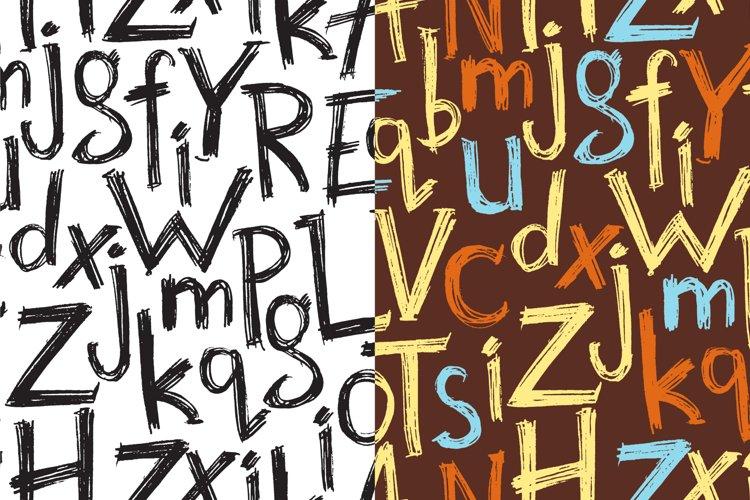 Vector hand drawn latin alphabet example 2