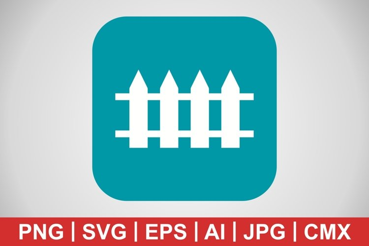 Vector Fence Icon example image 1