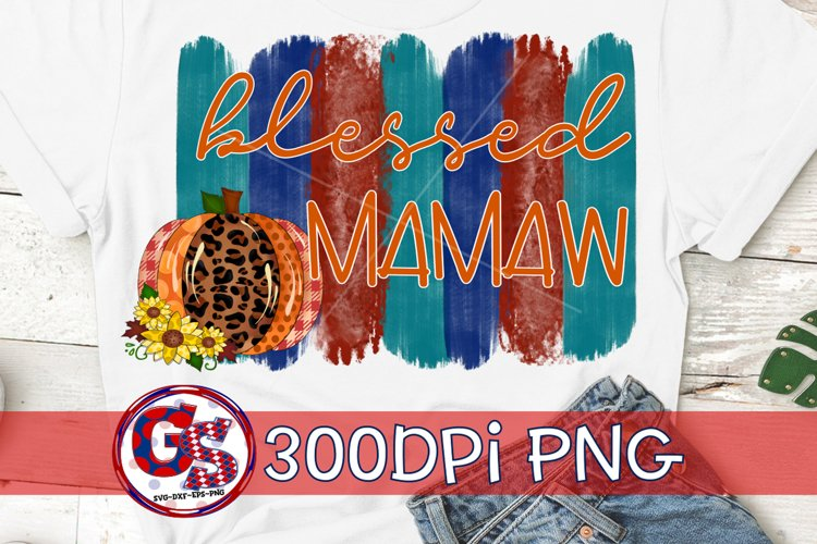Blessed Mamaw PNG for Sublimation | Fall PNG Autumn PNG example image 1